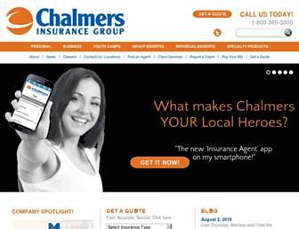 chalmersinsurancegroup.com screenshot