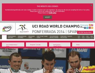 Thumbshot of Mundialciclismoponferrada.com