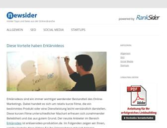 Main page screenshot of newsider.de