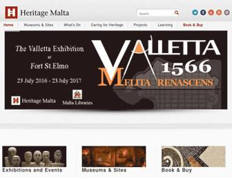 heritagemalta.org screenshot
