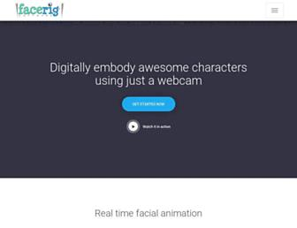 facerig.com screenshot