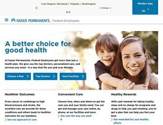 healthplans.kaiserpermanente.org screenshot