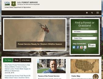 Main page screenshot of fs.usda.gov