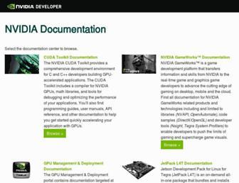 docs.nvidia.com screenshot