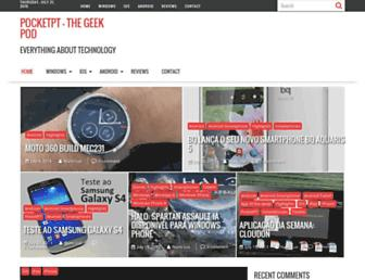 Main page screenshot of pocketpt.net