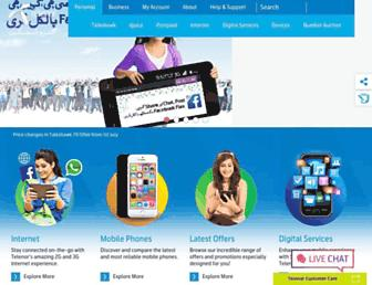 telenor.com.pk screenshot