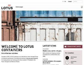 lotus-containers.com screenshot