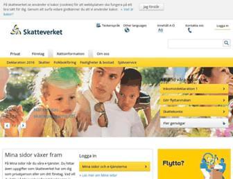 Main page screenshot of skatteverket.se
