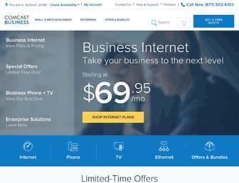 business.comcast.com screenshot