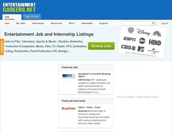 Thumbshot of Entertainmentcareers.net