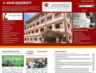 eiilmuniversity.co.in screenshot