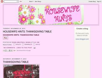 housewifehints.blogspot.com screenshot