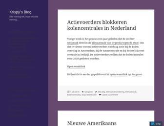 Main page screenshot of krispijnbeek.nl