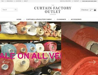 curtainfactoryoutlet.co.uk screenshot