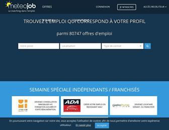 meteojob.com screenshot