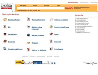 Main page screenshot of kataloq.net