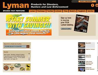 lymanproducts.com screenshot