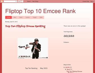 fliptopranking.blogspot.com screenshot