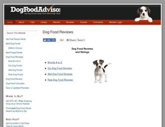 Thumbshot of Dogfoodadvisor.com