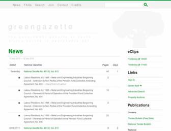 greengazette.co.za screenshot