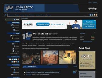 Main page screenshot of urbanterror.info