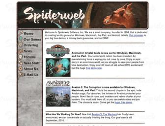 spiderwebsoftware.com screenshot
