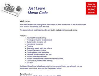 justlearnmorsecode.com screenshot