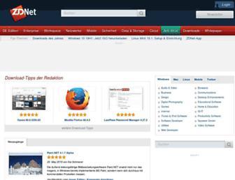 downloads.zdnet.de screenshot