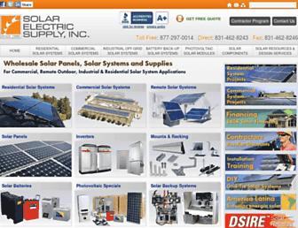 solarelectricsupply.com screenshot