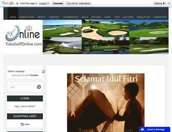 tokogolfonline.com screenshot