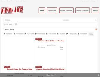 Thumbshot of Onlygoodjob.com