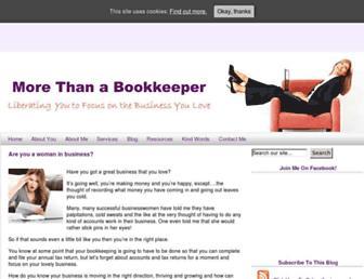 morethanabookkeeper.com screenshot