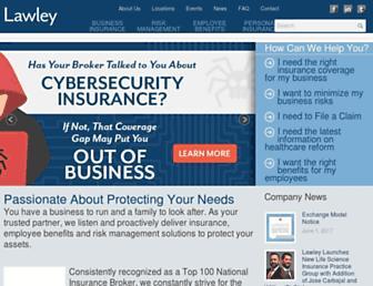 lawleyinsurance.com screenshot