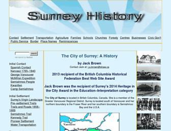 surreyhistory.ca screenshot