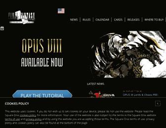 fftcg.square-enix-games.com screenshot