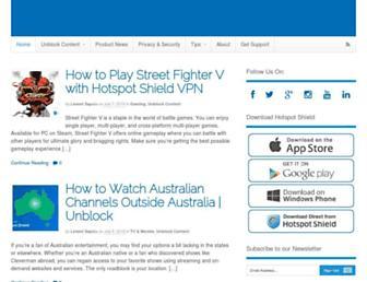 blog.hotspotshield.com screenshot