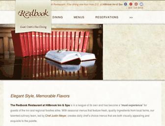 redbookrestaurant.com screenshot