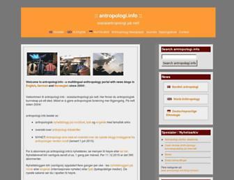 Main page screenshot of antropologi.info