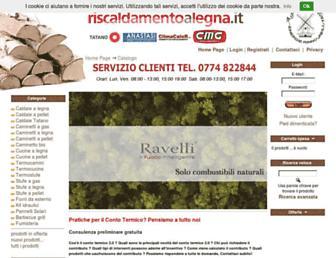 Main page screenshot of riscaldamentoalegna.it