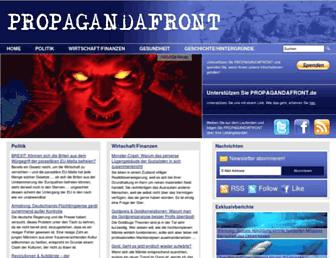 Main page screenshot of propagandafront.de