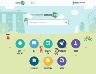 healthhub.sg screenshot