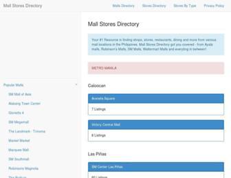 mallstoresdirectory.com screenshot