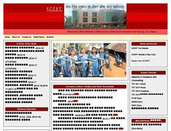 scert.cg.gov.in screenshot