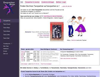 Main page screenshot of tanzpartner.cc