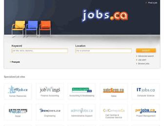 Main page screenshot of jobs.ca
