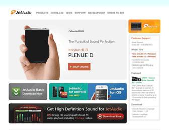 jetaudio.com screenshot