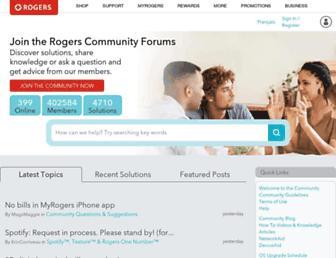 communityforums.rogers.com screenshot