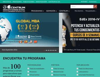 centrum.pucp.edu.pe screenshot