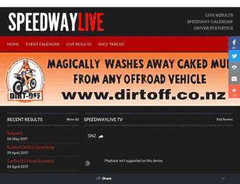 speedwaylive.co.nz screenshot