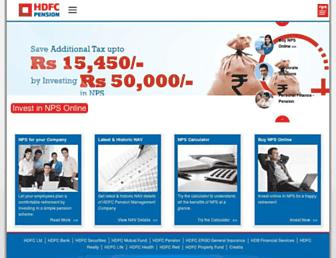 Thumbshot of Hdfcpension.com